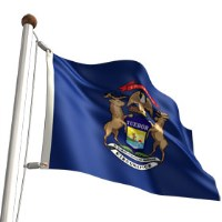 Michigan flag a