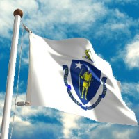 massachusetts flag a